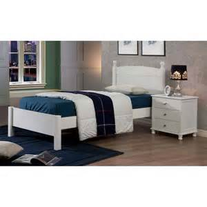 anderson white finish twin bed overstockcom shopping