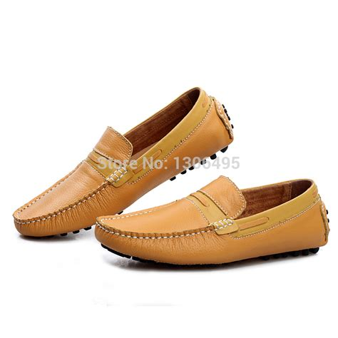 loafer for ruidai fashion flats genuine leather driving loafers