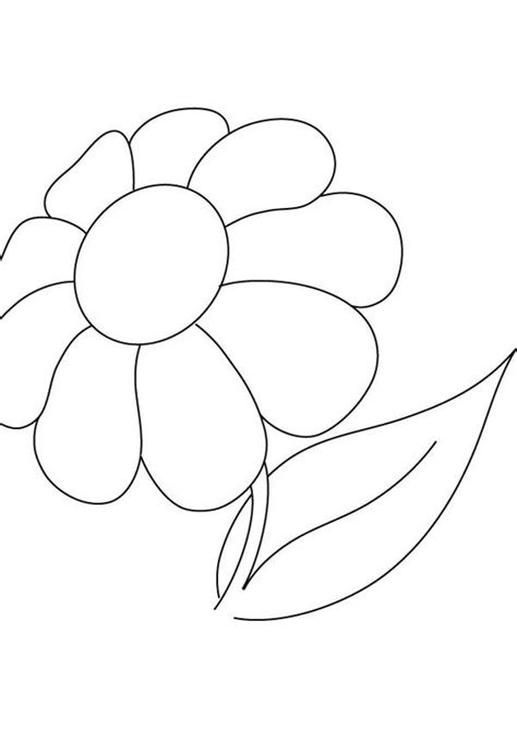 pretty picture  daisy flower coloring page