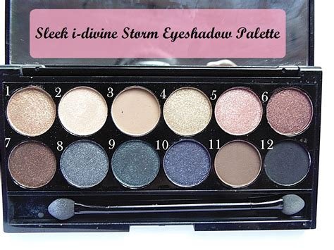 Eyeshadow Review sleek i eyeshadow palette swatches and review