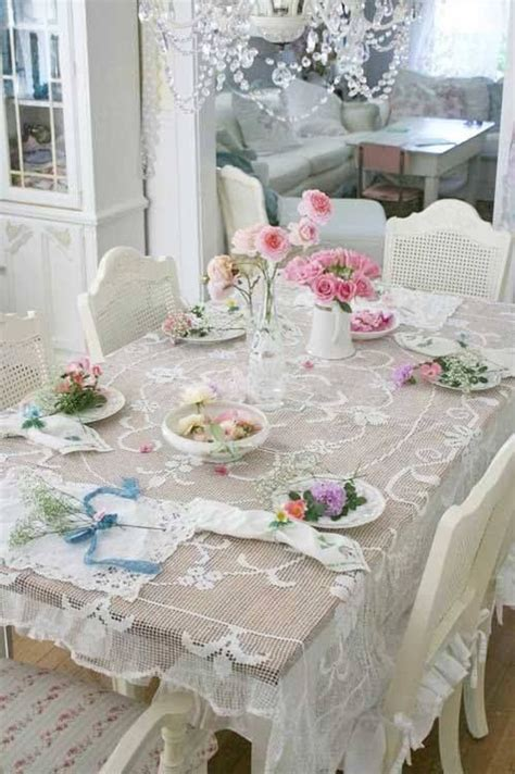 lovely table set shabby chic homes pinterest