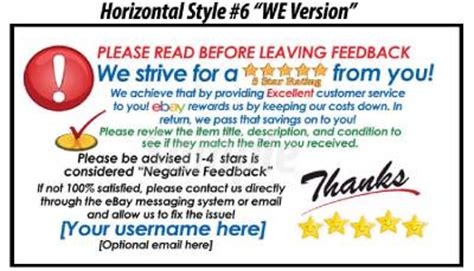 50 ebay seller custom personalized 5 star reminder thank