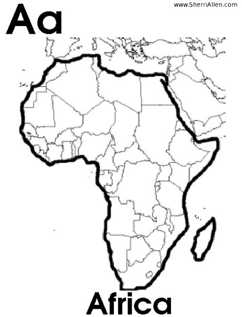 Africa Coloring Pages africa printable coloring pages
