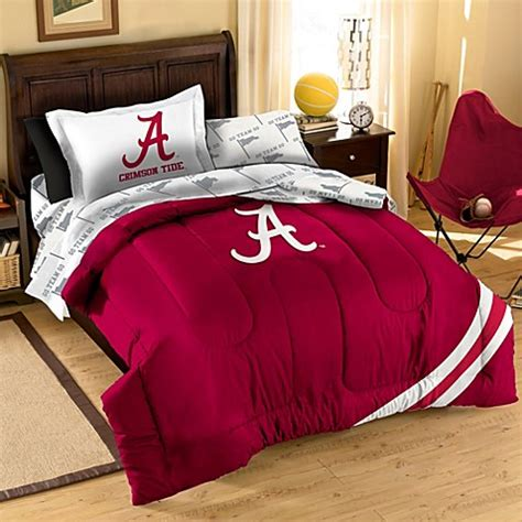 alabama crimson tide twin applique bedding set