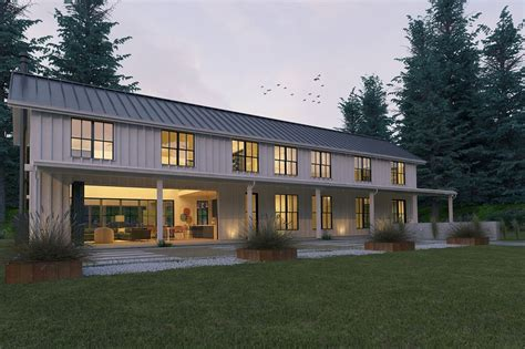 modern farmhouse elevations farmhouse other elevation plan 888 15 houseplans com