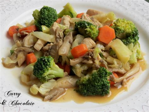cooking in english o intent 225 ndolo saut 233 ed chicken with mushrooms and vegetables