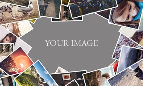 free psd photo collage templates free psd template scattered collage designeasy