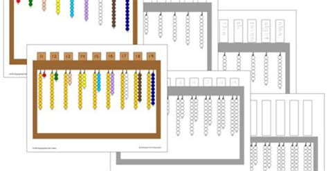 bead stair worksheets from montessori for everyone hanging bead stair extension work extension lesson for