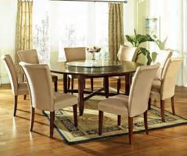 big dining room large round room table small round white