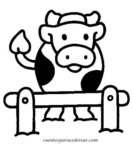 imagenes para dibujar vacas dibujos para colorear vacas