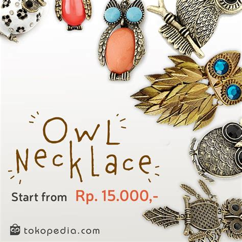 Kalung Owl Lucu pin by official on list
