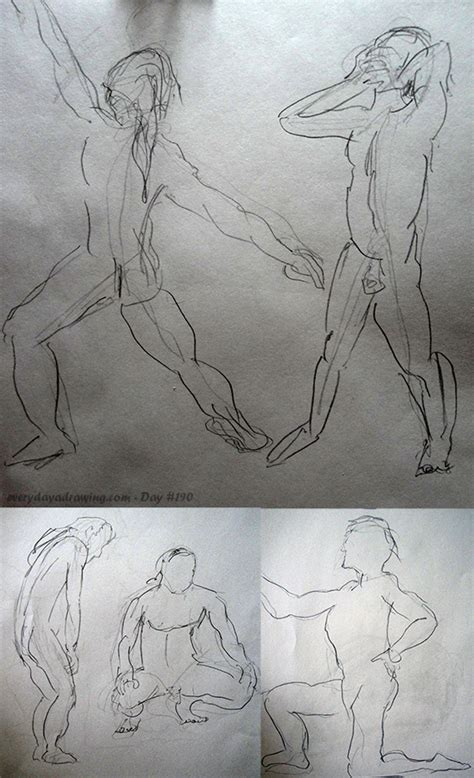 2 Minute Sketches by Day 190 Drawing Session Every Day A Drawing