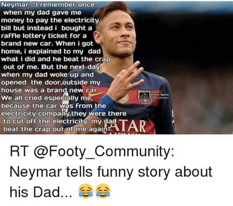 neymar my story conversations with my father sport birlinn ltd neymar remember once when my dad gave me money to pay the electricity bill but instead i bought