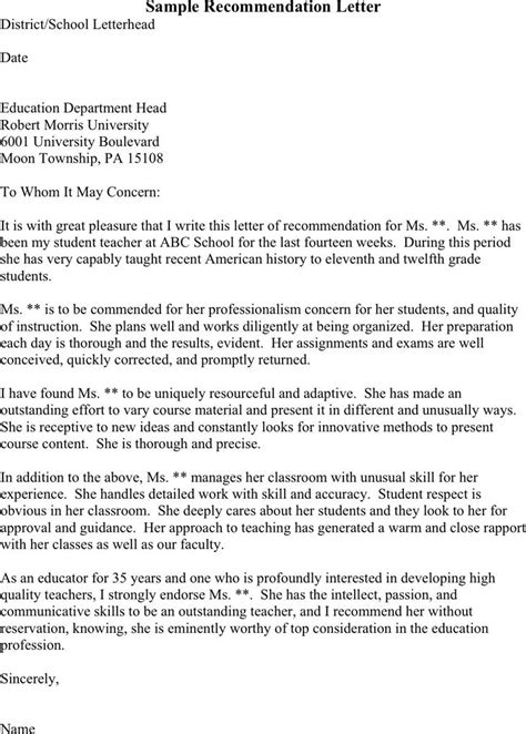 Recommendation Letter For Biotechnology Student free three sle recommendation letters pdf 1 page s