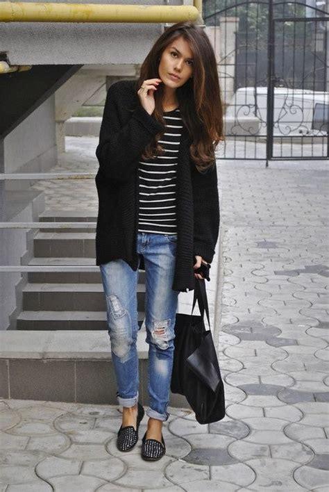Chika Maxi Cardi studded loafers bf striped shirt cardi