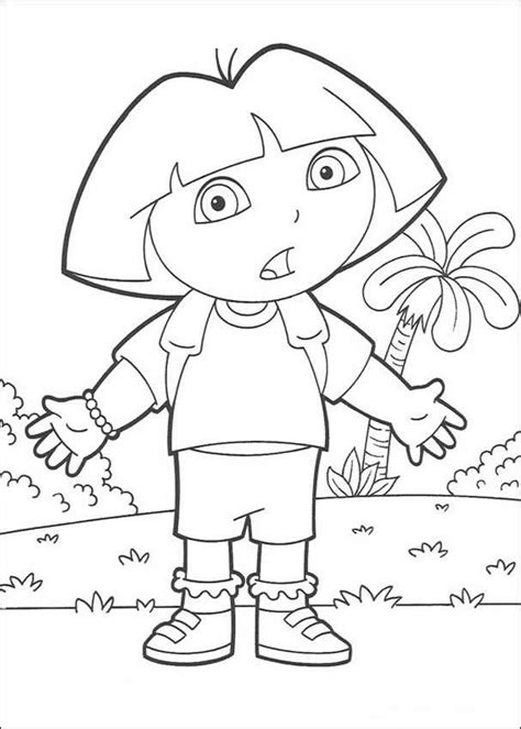 dora spanish coloring pages free printable dora the explorer coloring pages for kids