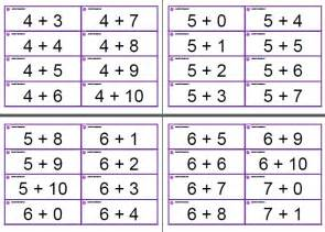 Flashcards For Math Jessie S Resources Mental Math 356 Flash Cards Free