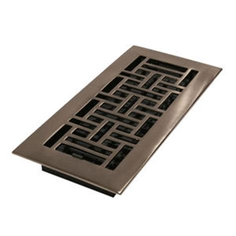 decor grates 174 4 quot x 10 quot brushed nickel plated floor