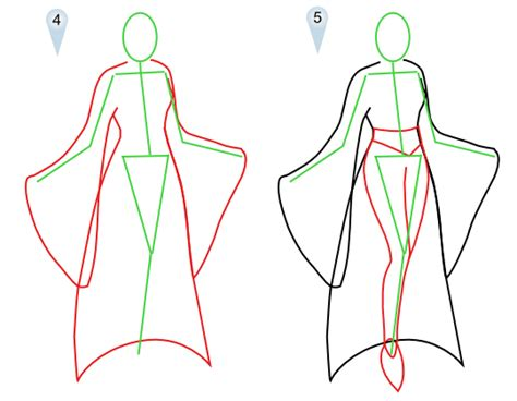 design clothes step by step fantasy vire drawings artwork and sketches