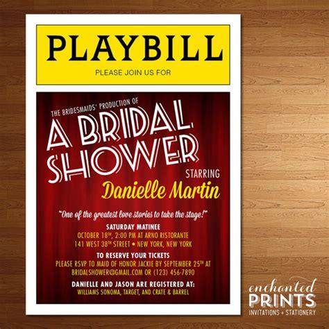 playbill wedding invitation template broadway playbill invitations broadway show theater nyc
