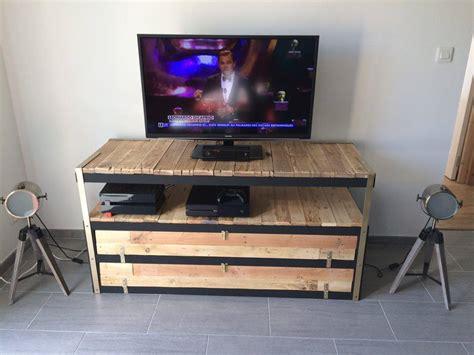 Comment Fabriquer Un Meuble Tv En Palette