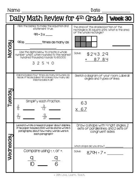 printable math review worksheets printables 3rd grade math review worksheets ronleyba