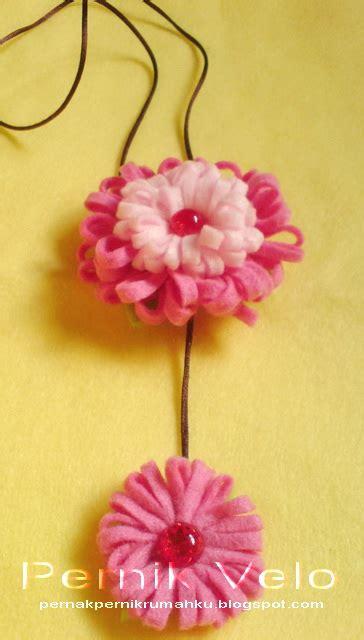 Kalung Bunga 8 pernik velo kalung bunga flanel cantik pesanan mbak riri