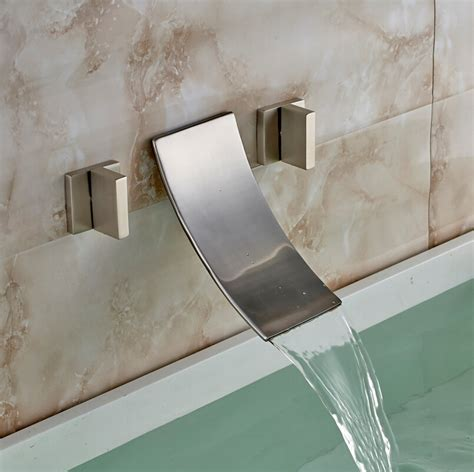 Wall Mounted Bathtub Fixtures by Handled Brushed Nickel Wall Mounted Bathtub Faucet All In One Installation Manuals