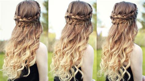 Straight Half Up Half Down Prom Hairstyles