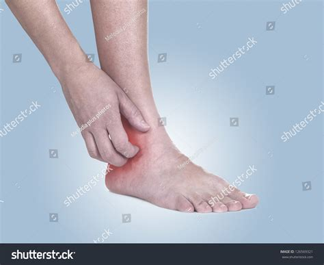 itching medicine scratch itchy ankle healthcare stock photo 126569321