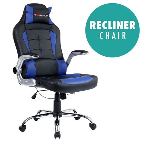 Computer Gaming Desk Chair Gtforce Blaze Reclining Leather Sports Racing Office Desk Chair Gaming Computer Ebay