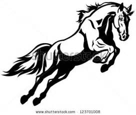 Black Mustang Logo Horse Silhouettes Free Vector 123freevectors