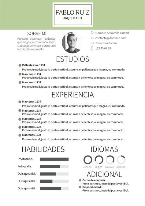 Modelo Curriculum Vitae Arquitecto curriculum vitae modelo details