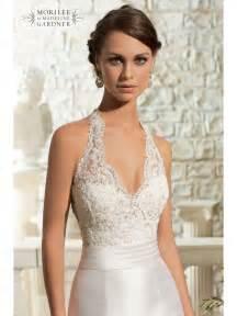 mori lee 5311 lace halterneck fishtail gown designer back