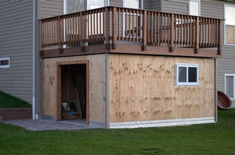 Shed With Deck by Panofish 187 Building A Shed A Deck
