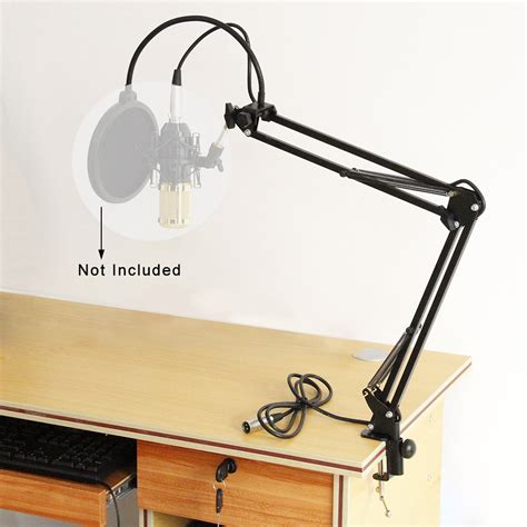 desk mounted microphone stand mic microphone suspension boom scissor arm stand holder