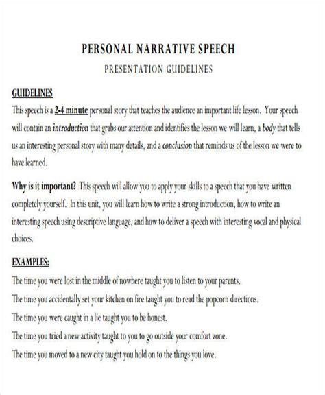 narrative speech outline template 35 speech exles