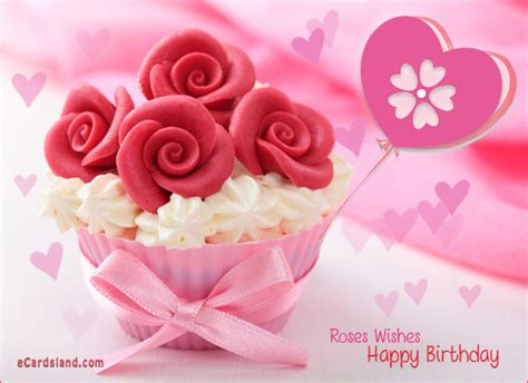 Happy Birthday Wishes Roses Roses Wishes Choose Ecard From Birthday Ecards