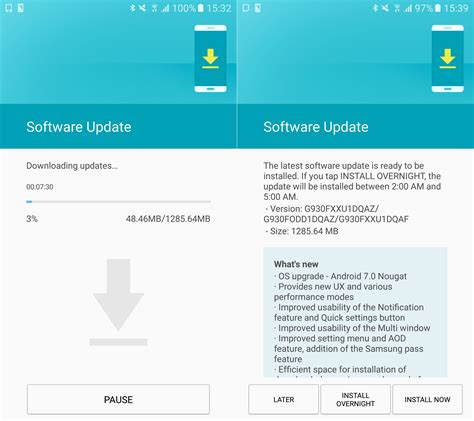 android firmware update samsung starts rolling out nougat for the galaxy s7 and galaxy s7 edge in russia and india
