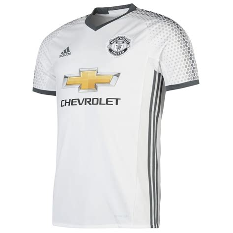 Jersey Manchester United 2016 2017 adidas manchester united 3rd jersey 2016 2017 mens white football soccer shirt ebay