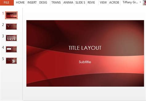 Free Crimson Powerpoint Template Sleek Powerpoint Templates