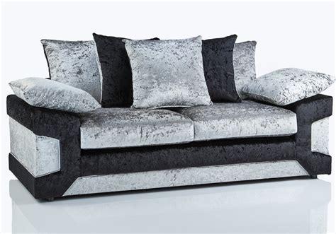 cheap crushed velvet sofa calmari crushed velvet fabric 3 seater sofa sofa black