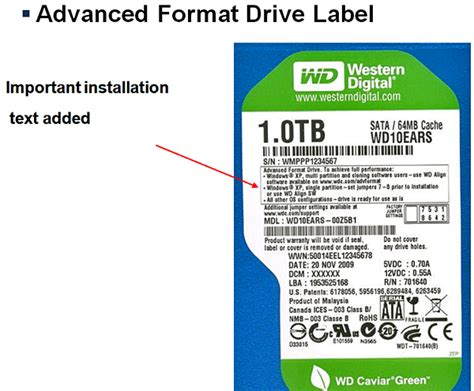 wd gives you up to 11 more space with advanced format hothardware
