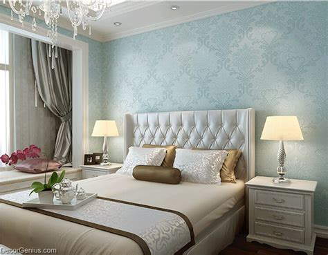 Light Blue Wallpaper Bedroom Light Blue Living Room 3d Flower Wallpaper Seasonal Decoration Bedroom Wall Sticker Dgwp003blu