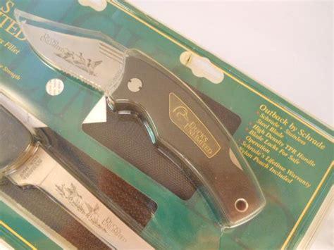 ducks unlimited knife set schrade ducks unlimited 2 knife set usa mint