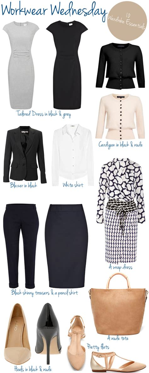Ten Wardrobe by Workwear Wednesday Wardrobe Essentials