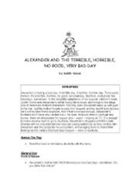 English worksheets: Alexander and the Terrible Horrible No