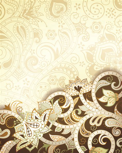 Vector Vintage Pattern Background | vintage decorative pattern background graphics vector free