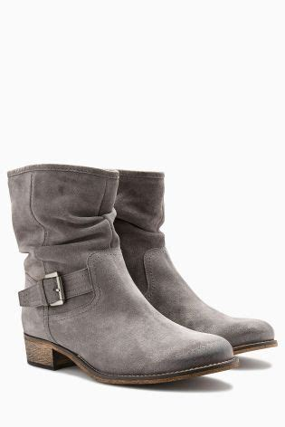 grey biker boots ladies buy grey suede buckle slouch boots from next poland