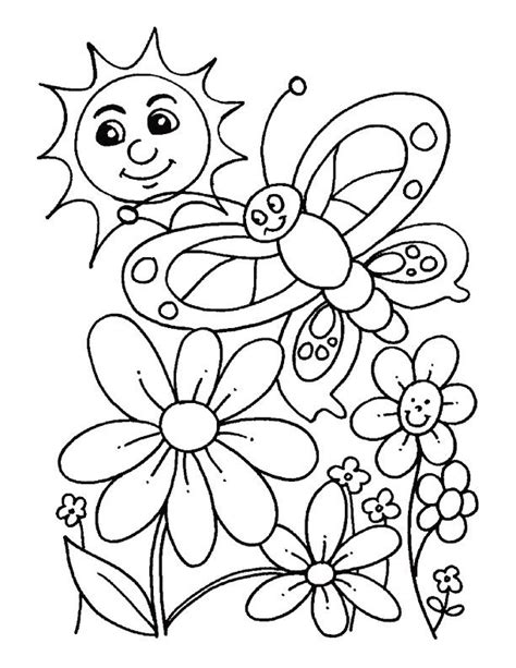 Spring Color Pages 9 Spring Coloring Pages Inspire Kids Free Flower Coloring Pictures For Kindergarten